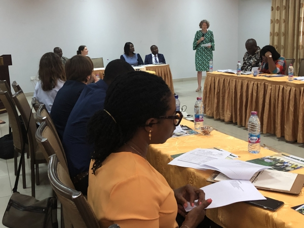 Her Excellency Tove Degnbol, Danish Abassador to Ghana, delivering her Key-note address